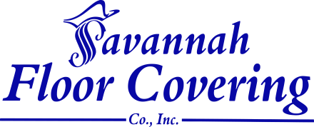 Savannah floor covering logo vertical stack